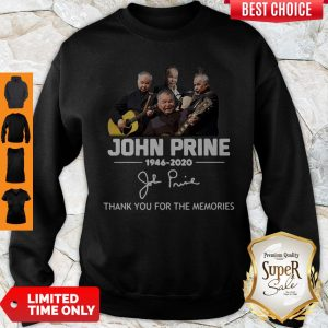 Premium John Prine 1946 2020 Thank You For The Memories Signature Sweatshirt