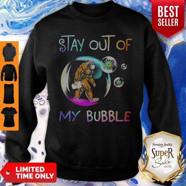 Nice Bigfoot Mask Stay Out Of My Bubble Coronavirus Sweatshirt