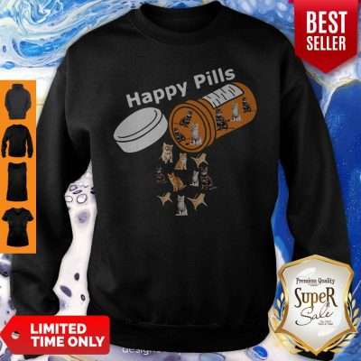 Pretty Happy Pills Version Cats Sweatshirt