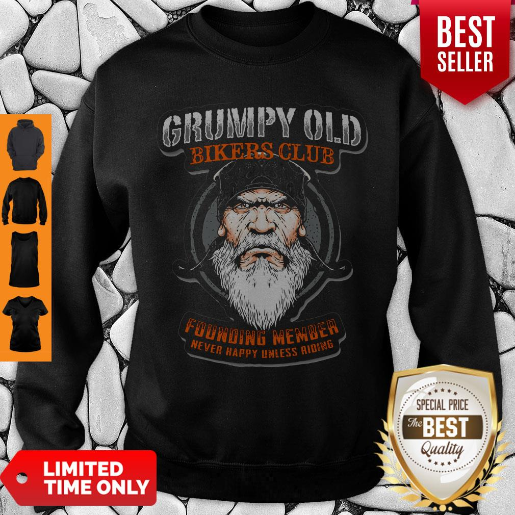 Pretty Grumpy Old Bikers Club Founding Member Sweatshirt