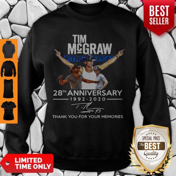 Nice Tim McGraw Truck Yeah 28th Anniversary 1992-2020 Signature Sweatshirt