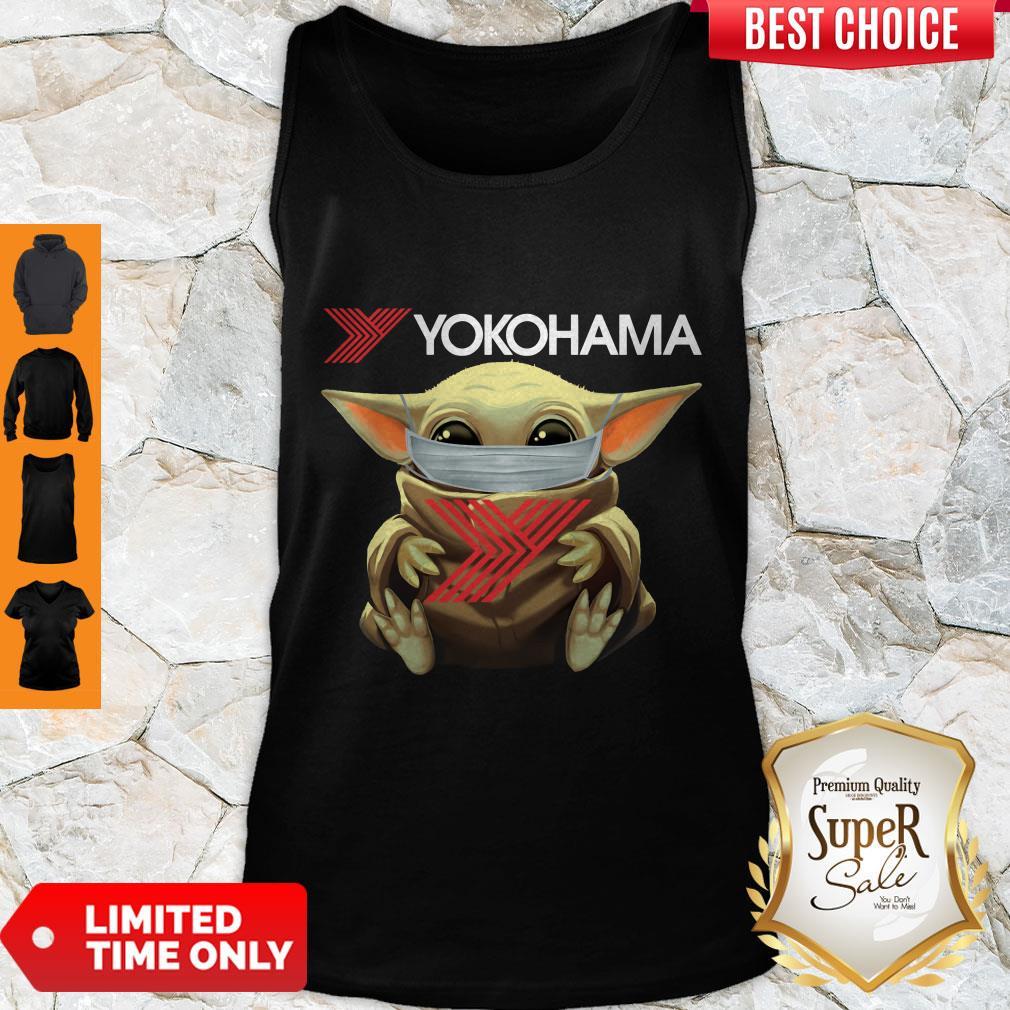 Official Baby Yoda Face Mask Yokohama Tank Top