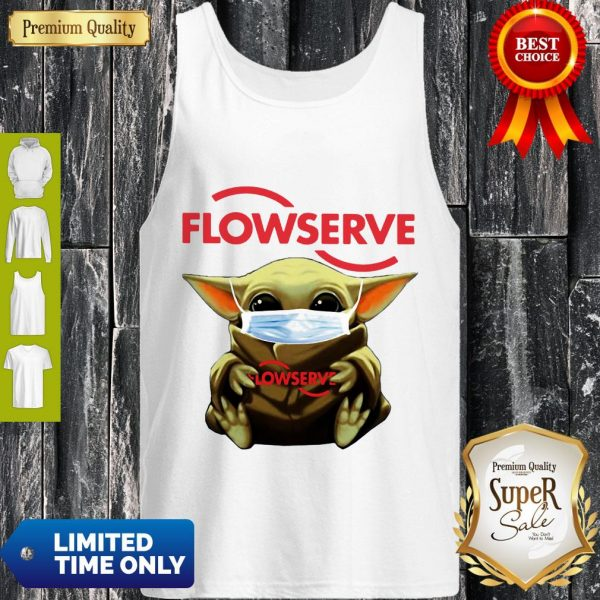 Top Baby Yoda Mask Flowserve I Can't Stay At Home Coronavirus Tank Top