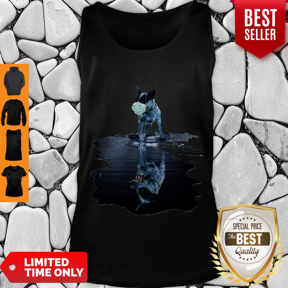 Nice Australian Cattle Dog Mask Reflection Water Mirror Tank Top