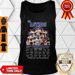Good The Houston Astros 58th Anniversary 1962-2020 Signatures Thank You For The Memories Tank Top