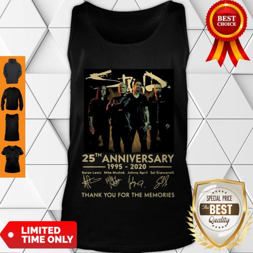 Pretty Staind 25th Anniversary 1995-2020 Signatures Thank You For The Memories Tank Top