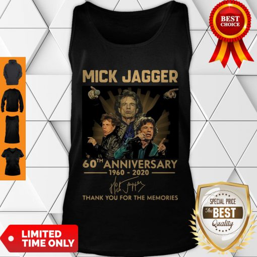 Funny Mick Jagger 60th Anniversary 1960-2020 Signatures Thank You For The Memories Tank Top