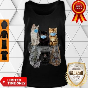 Nice Cats Face Mask Water Mirror Reflection Tigers Tank Top