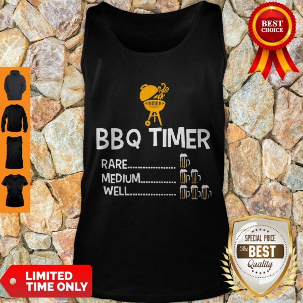 Good BBQ Timer Rare Medium Well Beer Counter Fun Grill Chef Tank Top