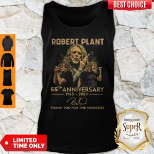 Premium Robert Plant 55th Anniversary 1965 2020 Signature Thank You For The Memories Tank Top