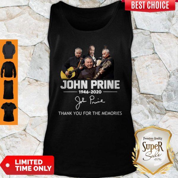 Premium John Prine 1946 2020 Thank You For The Memories Signature Tank Top