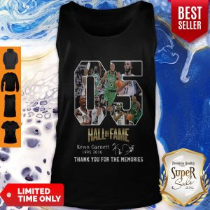 Official 05 Hall Of Fame Kevin Garnett 1995-2016 Signature Tank Top