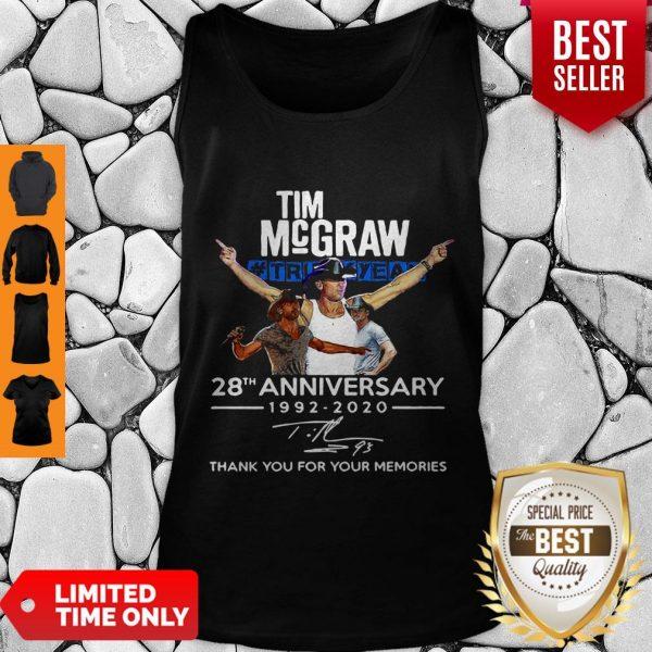 Nice Tim McGraw Truck Yeah 28th Anniversary 1992-2020 Signature Tank Top