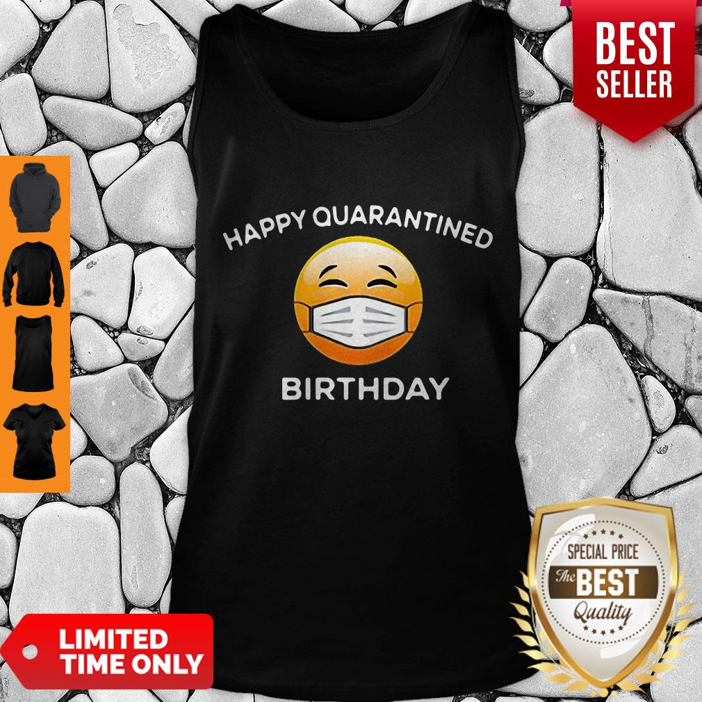Premium Emoji Happy Quarantine Birthday Coronavirus Tank Top