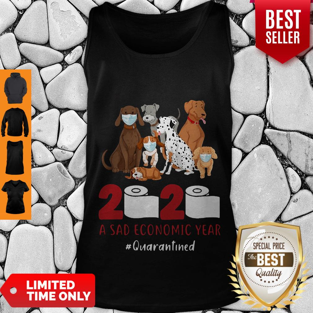 Official Dogs 2020 A Sad Economic Year #Quarantined Tank Top