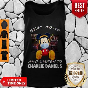 Official Mickey Mouse Stay Home And Listen To Charlie Daniels Corona Virus Tank Top