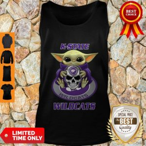 Official Baby Yoda Hug Skull K-State Wildcats Tank Top