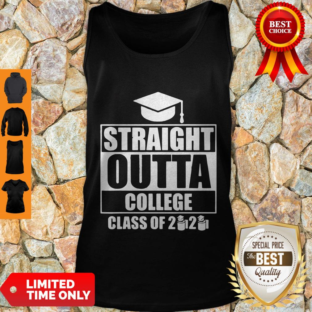 Nice Straight Outta College Class Of 2020 Toilet Paper Graduation Tank Top