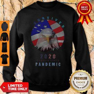 Top Eagle American Flag Survived 2020 Corona Virus Pandemic Sweatshirt