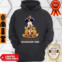 Top Mickey Mouse Captain Morgan Helping Me Survive Quarantine Hoodie