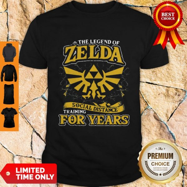Top The Legend Of Zelda Social Distance Training For Years Shirt