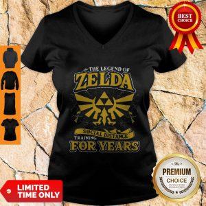 Top The Legend Of Zelda Social Distance Training For Years V-neck