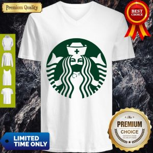 Pretty Starbuck Coffee Nurse V-neck