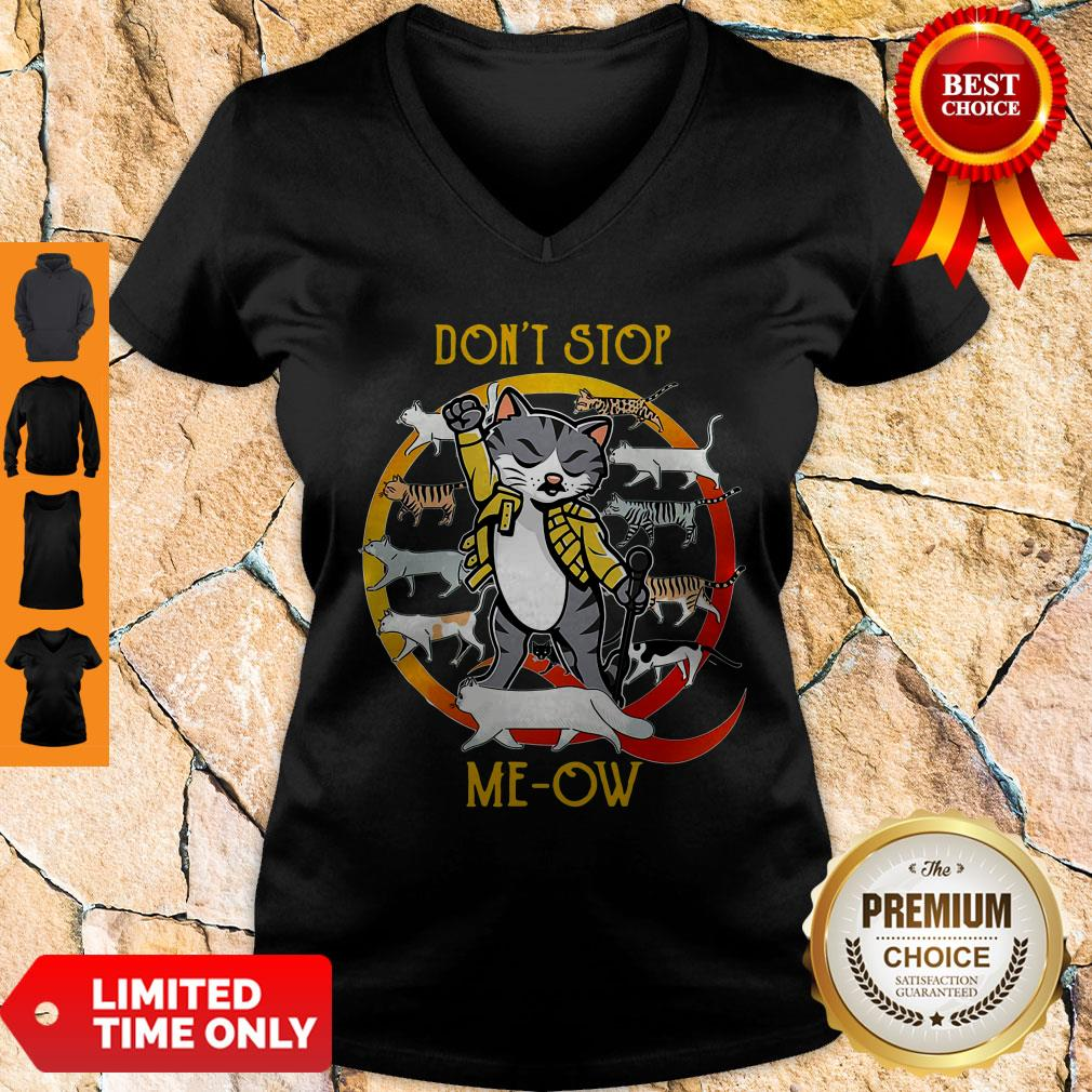 Official Don't Stop Meow V-neck