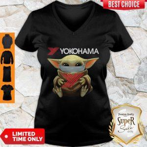 Official Baby Yoda Face Mask Yokohama V-neck