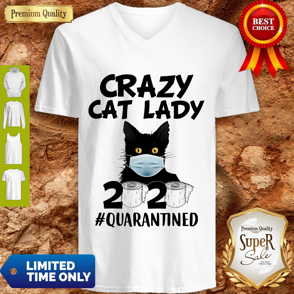 Official Crazy Cat Lady 2020 #Quarantined V-neck