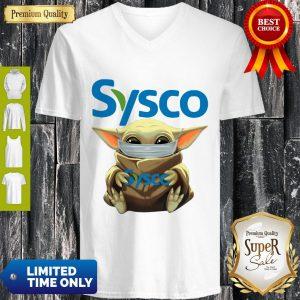 Nice Baby Yoda Mask Sysco Coronavirus V-neck