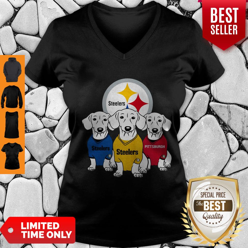 Good Dachshund Dogs Pittsburgh Steelers Logo V-neck