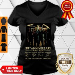 Pretty Staind 25th Anniversary 1995-2020 Signatures Thank You For The Memories V-neck