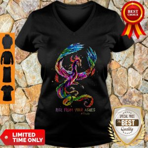 Nice Dragon Rise From Your Ashes V-neck