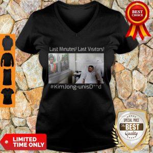 Premium Last Minutes Last Visitors Kim Jong Un Isdead V-neck