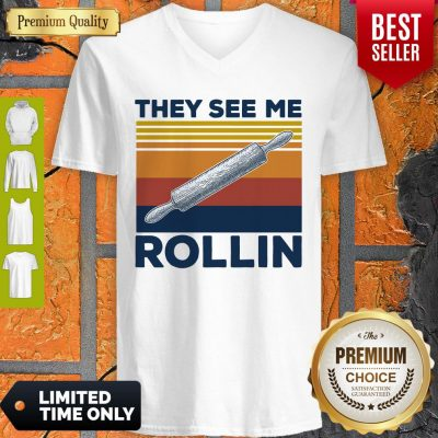 Official They See Me Rollin Vintage V-neck