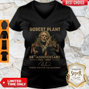 Premium Robert Plant 55th Anniversary 1965 2020 Signature Thank You For The Memories V-neck