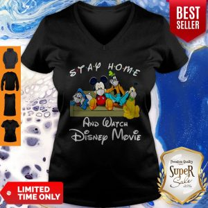 Nice Stay Home And Watch Disney Movies Mask Covid-19 V-neck