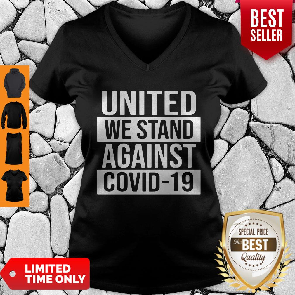 Top United We Stand Against COVID-19 V-neck