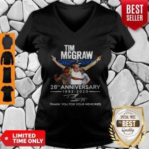 Nice Tim McGraw Truck Yeah 28th Anniversary 1992-2020 Signature V-neck