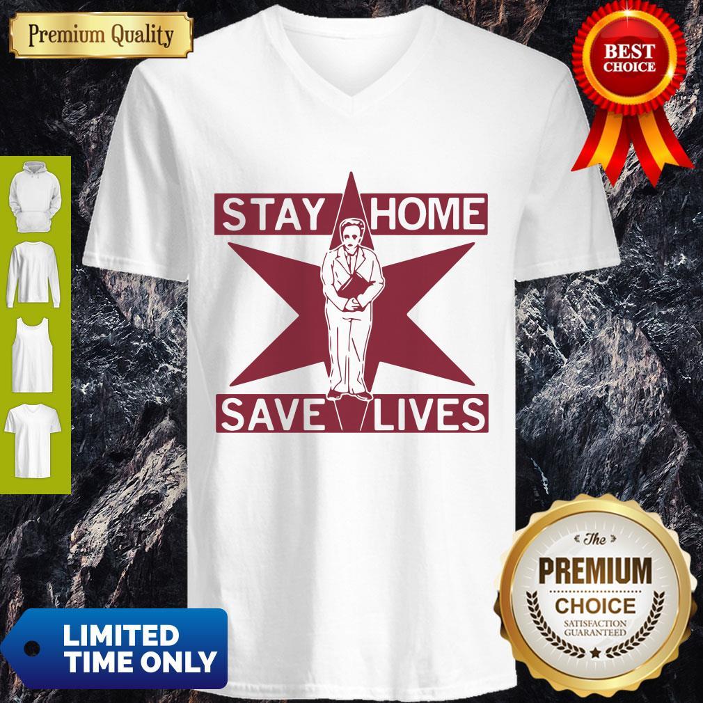 Pretty Lori Lightfoot Stay Home Save Lives V-neck