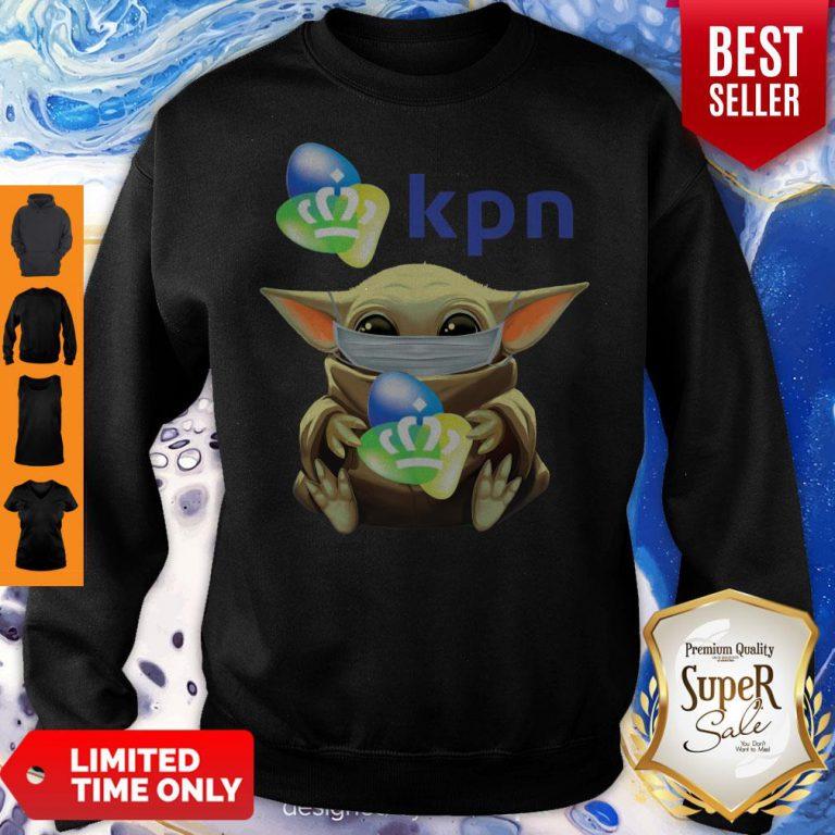 Funny Baby Yoda Mask Hug KPN Sweatshirt