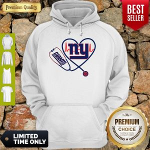 Funny Nurse New York Giants Stethoscope Heartbeat Hoodie