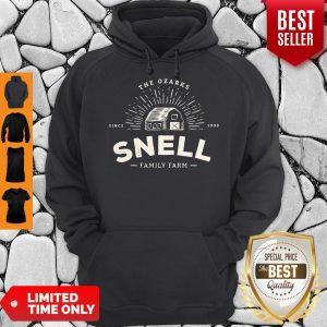 Funny Snell Family Farm Logo from Ozark Baseball Hoodie