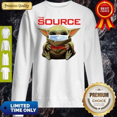 Funny Star Wars Baby Yoda Hug The Source Mask Covid-19 Sweatshirt