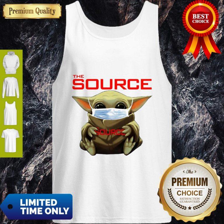 Funny Star Wars Baby Yoda Hug The Source Mask Covid-19 Tank Top