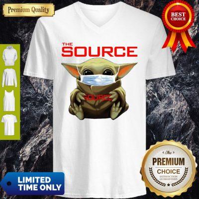 Funny Star Wars Baby Yoda Hug The Source Mask Covid-19 V-neck
