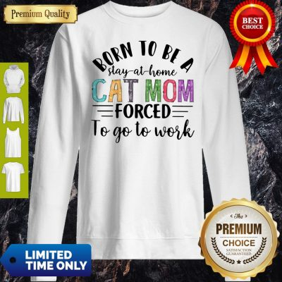 Funny Stay At Home Cat Mom Sweatshirt