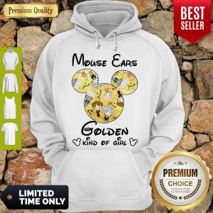 Pretty Mouse Ears Golden Kind Of Girl Hoodie