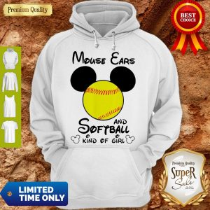 Funny Mouse Ears And Softball Kind Of Girl V-neck